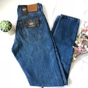 "Levi's 501 High-Rise Skinny Jeans ""Big E"" 23x30"